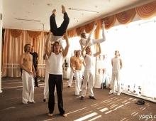 Тренировка парной поддержки в танце
